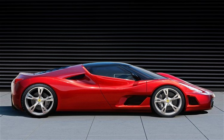 Is this the Enzo replacement? This mid-engined supercar is said to feature an 800-hp version of the 7.3-liter V12 that will debut in the 599 GTB replacement. That power will be augmented by a 120-hp electric KERS system to push the total to 920 hp. Coupled with a rumored goal weight of just 1,000 kg - 2,200 lbs. - this could be a Veyron-beating combination. This particular illustration seems to combine elements of the 458 Italia and Jim Glickenhaus' P4/5, which isn't a bad thing at all.