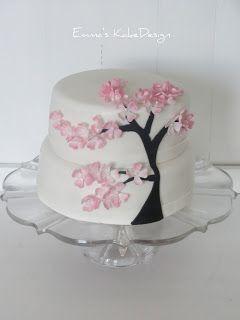 Emmas KakeDesign: Japansk Kirsebærtre kake