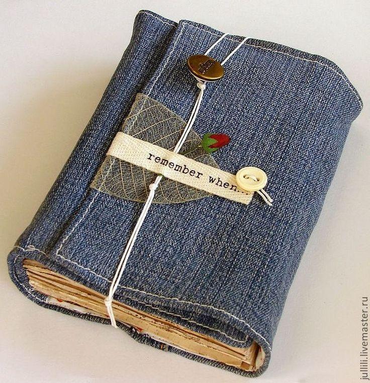 Купить Джинсовый соулбук - синий, джинс, блокнот ручной работы, блокнот, блокнот…