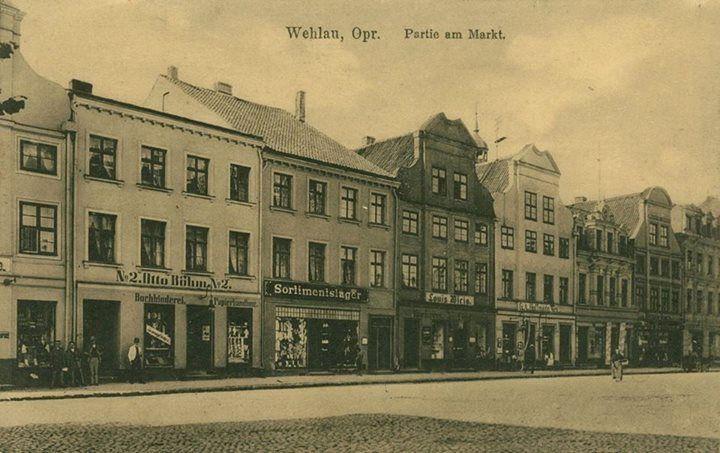Partie am Markt in Wehlau, ca. 1916 Wehlau/Ostpr.
