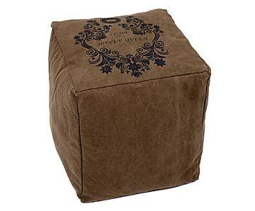 Пуф - хлопок - коричневый - 40х40х45 см