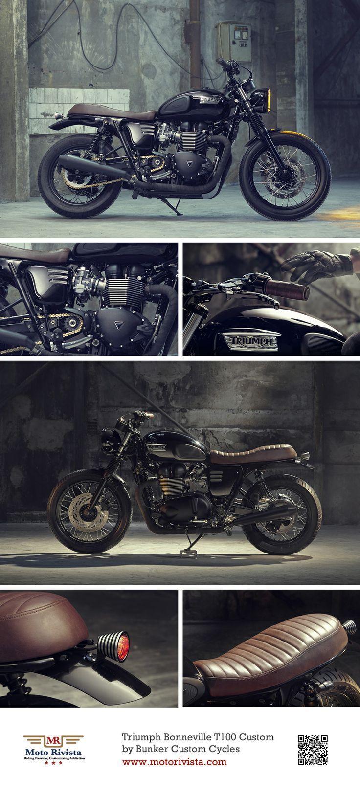 #Triumph Bonneville T100 #Custom ~ featured on Moto Rivista