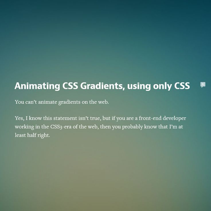 Animating CSS Gradients, using only CSS, #Animation, #Background, #Code, #CSS…