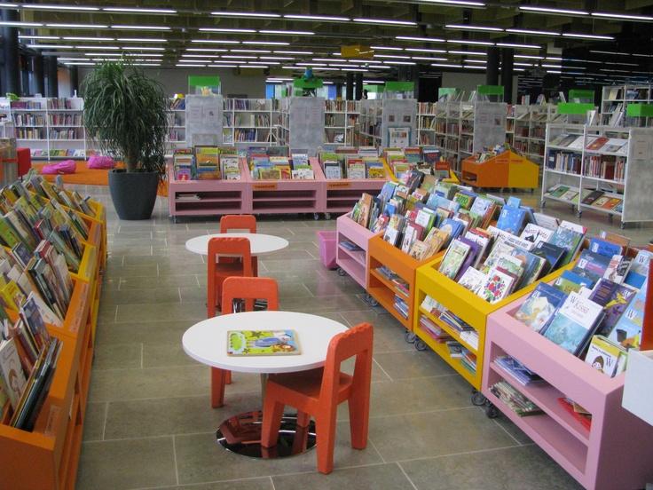 Children's area in Entresse Library, Espoo.