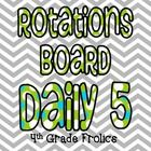 Freebie:)  I love using the Daily 5 but do do it a little differently.  Because of time constraints, my students don't have free choice so I made a rotations ...