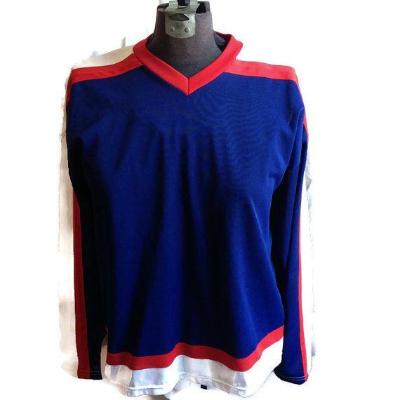 80's Hockey Jersey / 1980's Sports Shirt / by RetroFreshTees, $18.00