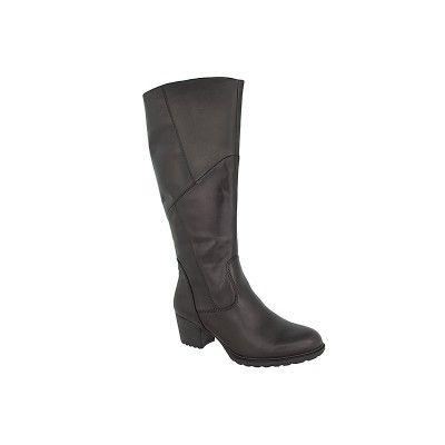 TAMARIS 1-25508-27 - Γυναικείες Μπότες Δερμάτινες σε μαύρο χρώμα