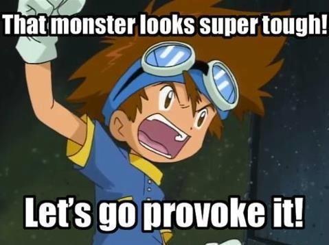 Digimon. Haha oh, Tai.