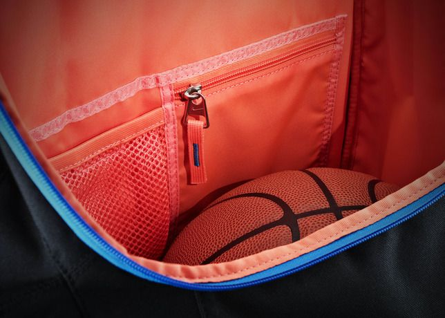 Kevin Durant's backpack revealed. The orange lining is only the tip of the awesome iceberg here.