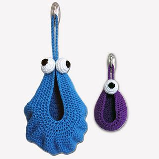 For cuteness! These would be great in kid's rooms. (NOT a free pattern.)