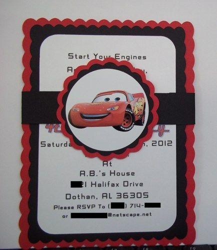 Cars Birthday Invitations, Disney Cars Invites, Lightning McQueen | Timberlysdesigns - Seasonal on ArtFire