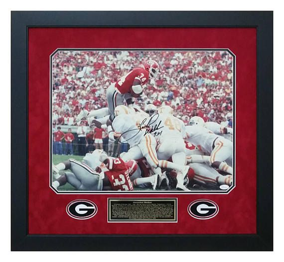 Herschel Walker Georgia Bulldogs AUTOGRAPHED / Hand Signed with Certificate Of Authenticity / JSA Witnessed.  #HerschelWalker #GeorgiaFootball #UGA #GoDAWGS #1980NationalChamps