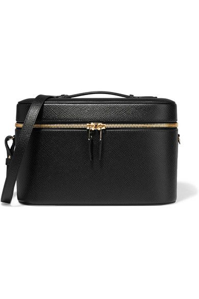 Black textured-leather (Calf) Two-way zip fastenings along top Weighs approximately 1.1lbs/ 0.5kg Made in Spain