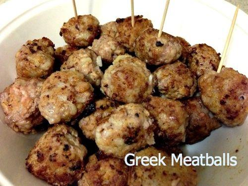 Greek Meatballs   Appetizers & Snacks   Pinterest   1 ...