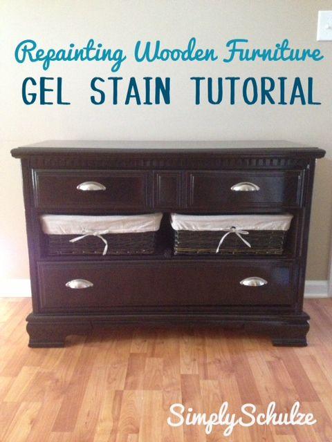 Painting Wooden Furniture Using Gel Stain - Minimal Sanding :)