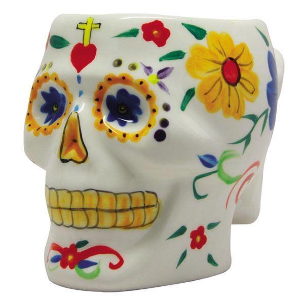 Day Of The Dead Sugar Skull Mug White