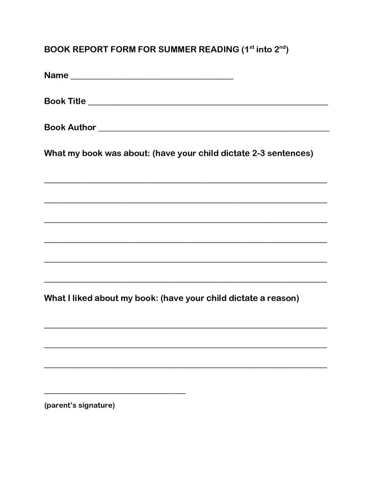summer reading book reports This template will map out the information you need to include in your book report  as you read the book, fill in the sections for this template you will receive a.