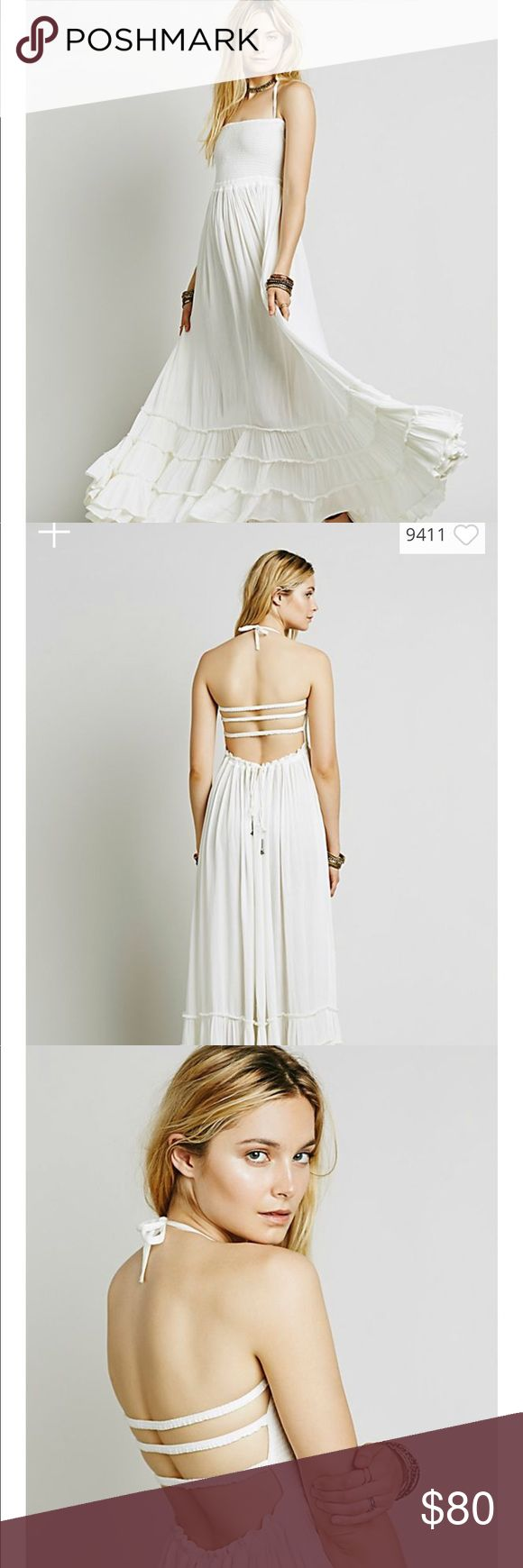 Free People Extratropical Maxi Dress Amazing flowy maxi dress in a neutral sand color. Only worn once for an occasion. Only size L left online! Free People Dresses Maxi