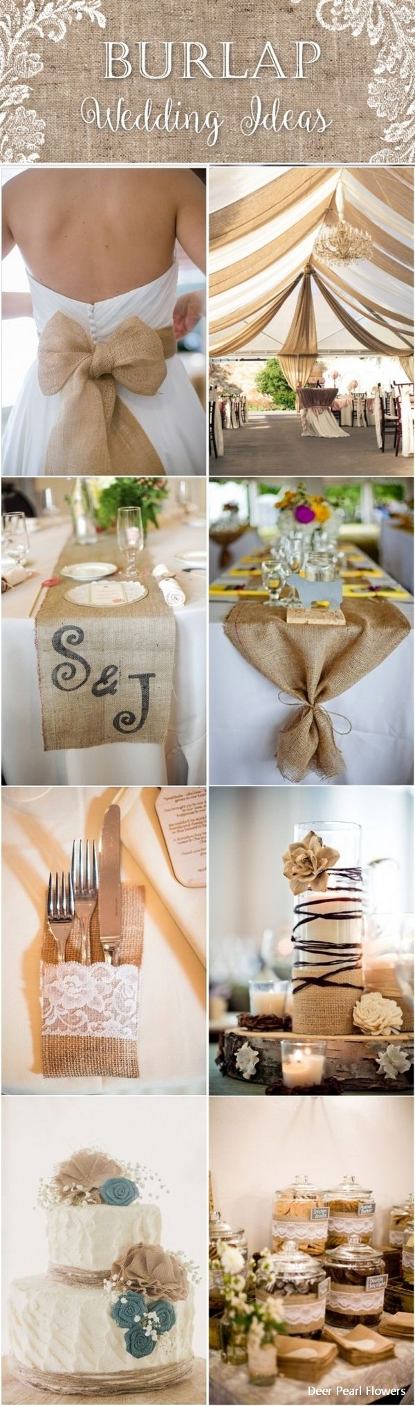 55 Chic-Rustic Burlap and Lace Wedding Ideas #countrywedding #weddingideas #rusticwedding #wedding