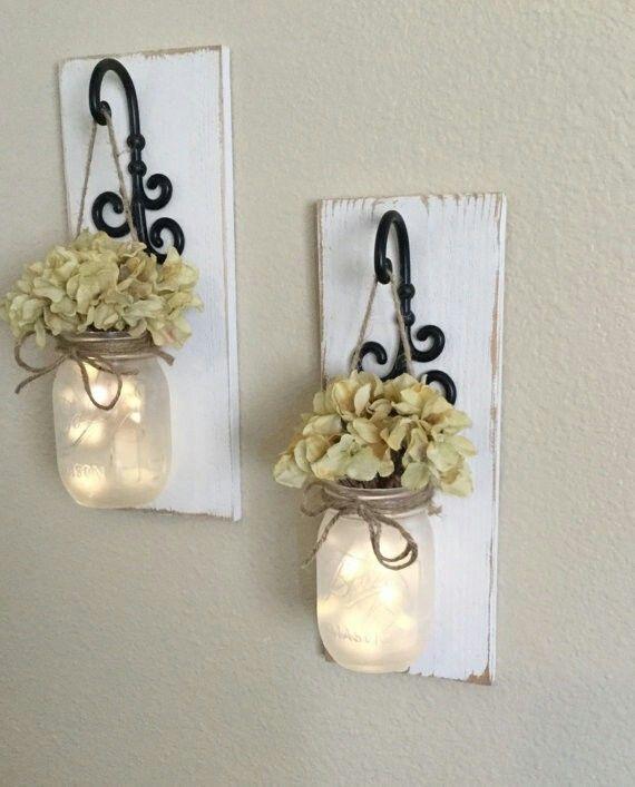 Best 25+ Mason jar sconce ideas on Pinterest | Mason jar ...
