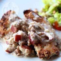 Foto della ricetta: Petti di pollo con noci e mele