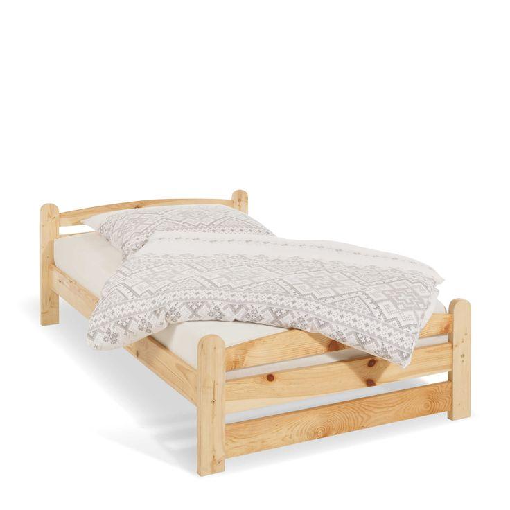 Bett Oratino 100 x 200 cm Kiefer Holz online kaufen bei