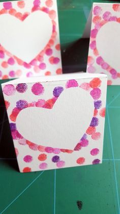 DIY stamp cards with heart for Valentine's Day, Mother's Day – craft girl