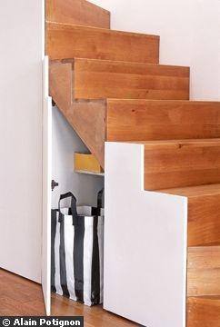 Escalier avec rangement malin