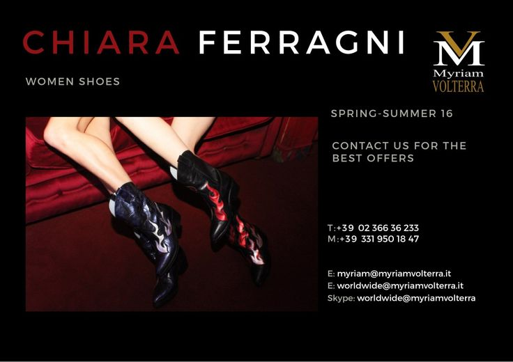 CHIARA FERRAGNI FALL WINTER 16/17 available for a PRE ORDER at Myriam Volterra Luxury Buying Office! Contact us by phone, email, Skype or visit our office in Milan and we provide you with all the necessary information!