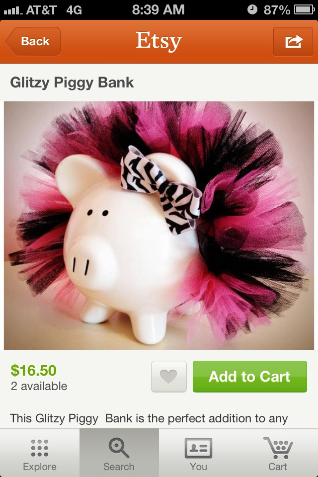 Tutu piggy banks