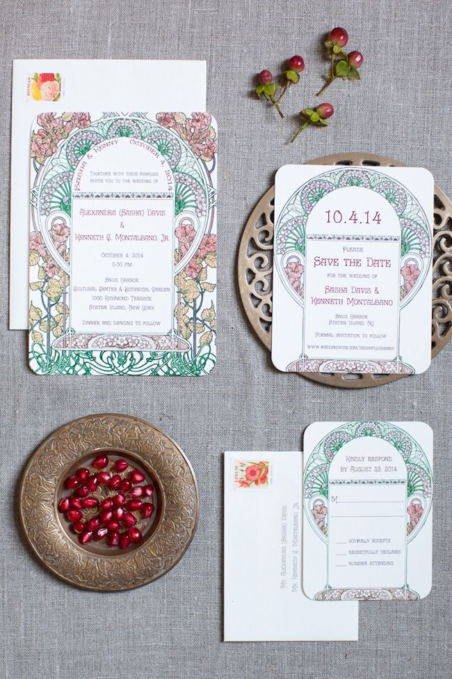 south african traditional wedding invitations samples%0A Pomegranate Inspired Chic Botanical Garden Wedding At Snug Harbor    Photograph by Melissa Kruse Photography