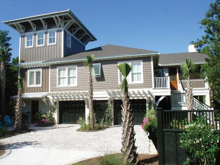 Beach cottage house exterior pinterest beach for Beach cottage exterior design