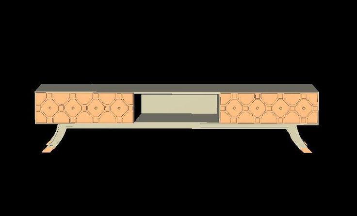Návrh dizajnovej TV komody
