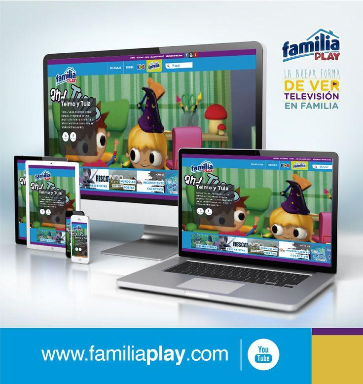 Disfruta de un espacio solo para ti, elige una divertida película en www.familiaplay.com ingresando desde tu computador, smartphone, tableta o Smart TV ¡Es gratis!