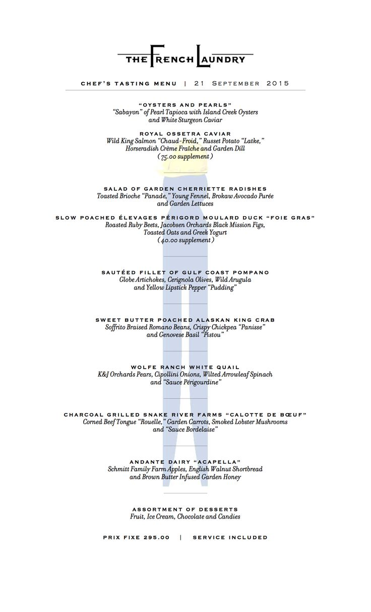 29 best Menu collection images on Pinterest | The french laundry ...