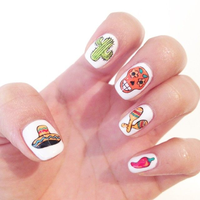 Hola! Happy Monday - here is some Cinco De Mayo nail inspo. Share your fun designs with us #rcmnailit
