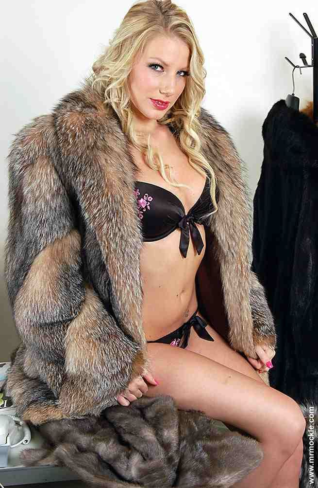 Understand porn star in a fur coat