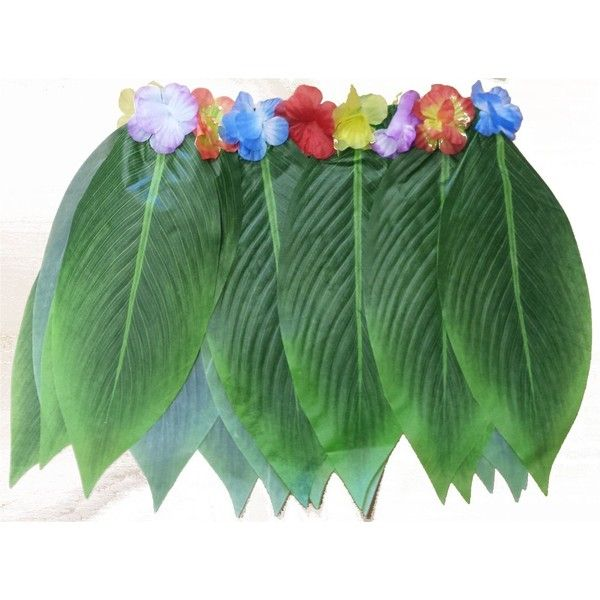 Hula Hawaiian grass leaf skirt with flowers:Amazon.co.uk:Clothing ❤ liked on Polyvore featuring skirts, costumes, hawaiian print skirt, hawaiian skirt, green skirt and flower skirt