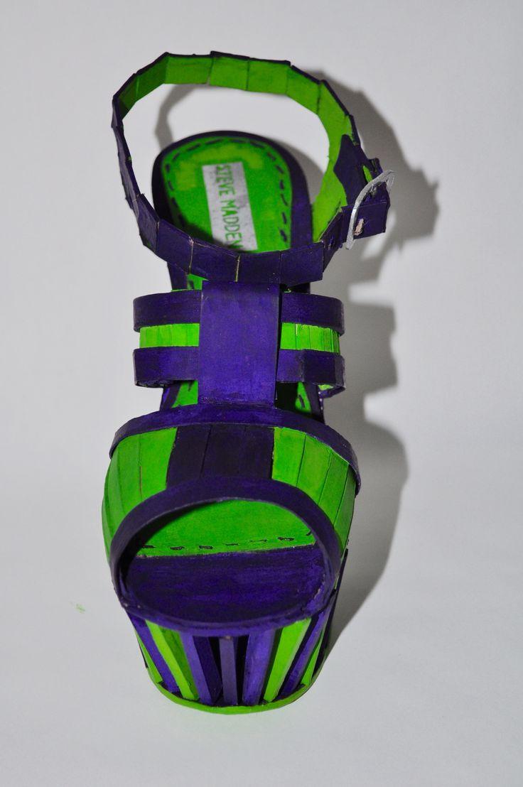 Zapato de carton #planoseriado #cinetismo #idc
