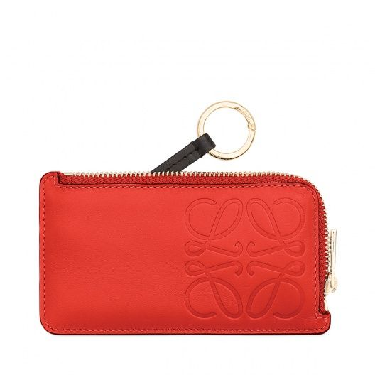 ロエベ For Woman - ANAGRAMA KEY HOLDER Primary Red