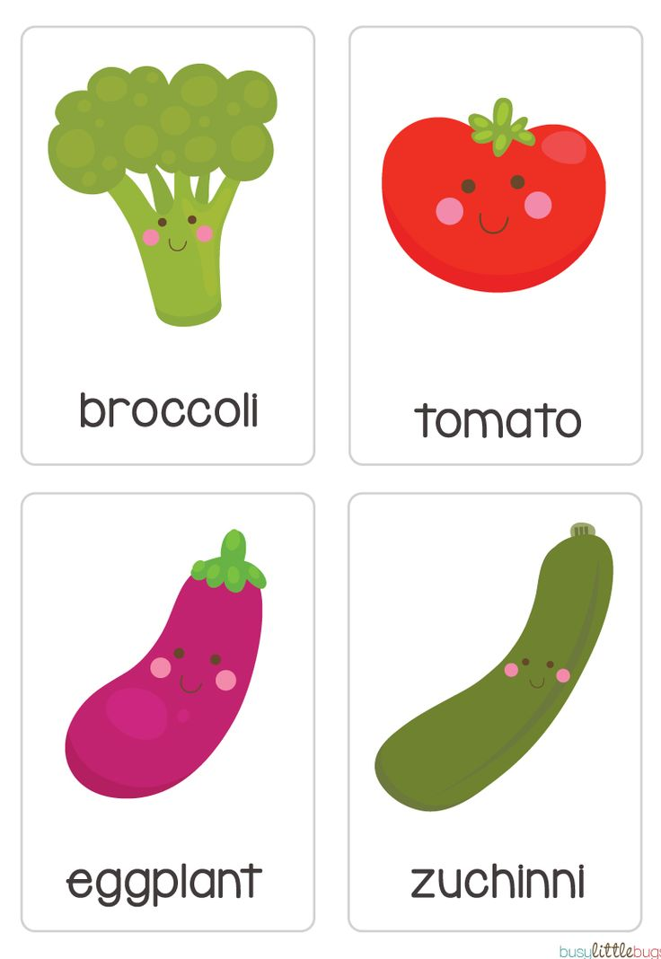 """Our set of printable """"Fruit & Vegetable Flash Cards"""" are a great learning tool for early literacy and would be a great addition to a health unit. All brightly coloured and of high quality."""
