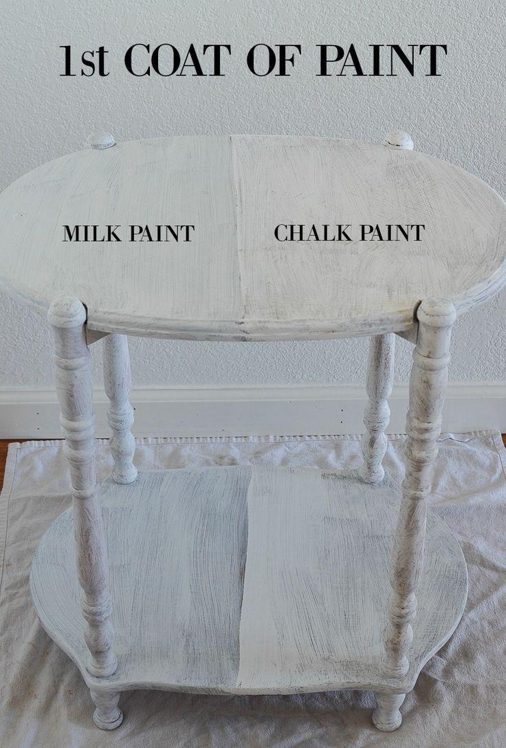 Paint Projects Rust Oleum Milk Paint Vs Chalked Paint Sarah Joy Blog Chalk Paint Vs Milk Paint Milk Paint Chalk Paint Vs