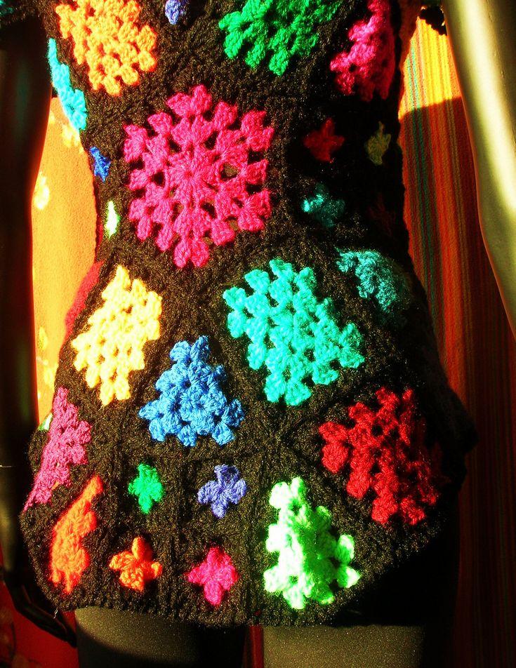 34 besten Granny squares Bilder auf Pinterest   Häkeln, Kleidung und ...