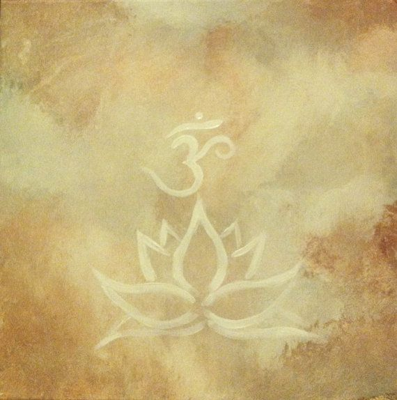 Lotus & Om Painting by sageandrosemary on Etsy, $20.00