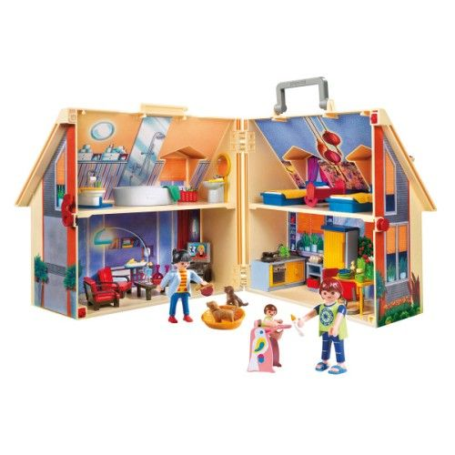 5167 Maison transportable Playmobil pour enfant de 4 ans à 8 ans - Oxybul éveil et jeux