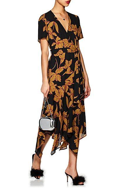 9ae38ce8e944 A.L.C. Cora Floral Silk Wrap Dress - Dresses - 505881773