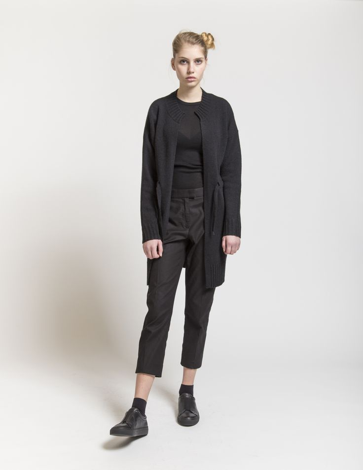 Selfhood - womensfashion outfit. Lambswool/nylon knit with waist string.