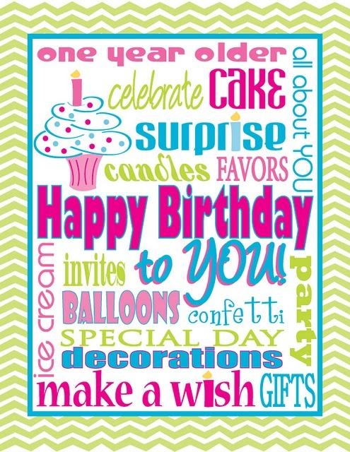 Birthday free printable