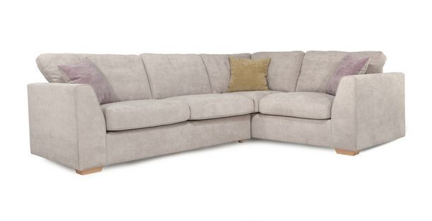 Blanche Left Hand Facing 2 Seater Corner Sofa Sherbet | DFS