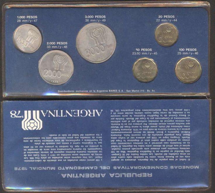 Argentina Soccer World Cup 1978 Set Complete x6 Coins 1977    eBay
